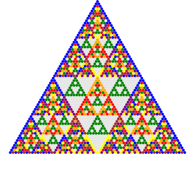 Write a c program to print the pascal triangle for 10 rows of 20